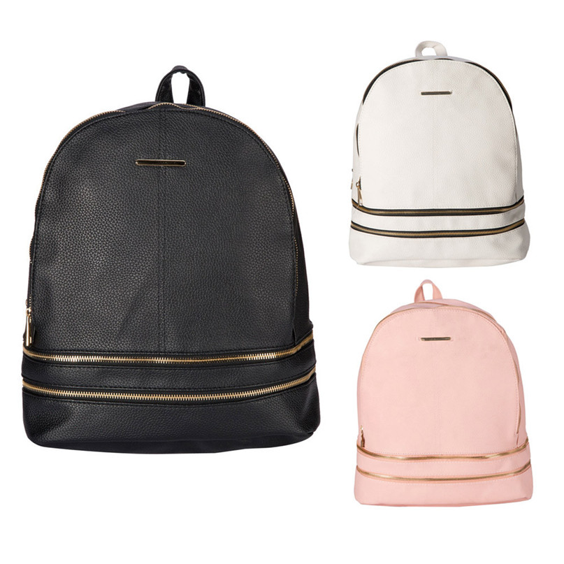 Women Leather Softback Bags Preppy Style Casual Bag Teenage Backpacks High Quality Satchel drop shipping 0703