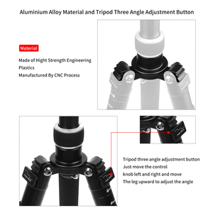 Image 4 - SHOOT Camera Tripod Holder Stand Mount for Canon 1300D Nikon D3400 D5300 Sony A6000 X3000 DSLR Camera with Ball Head Accessories