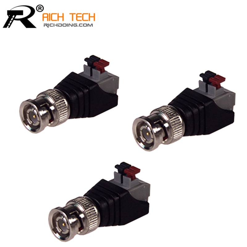 Terminal Camera CCTV BNC male UTP Video Balun Connector Cable Adapter Plug Pressed connected for CCTV Camera 3pcs/lot  цены