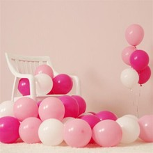 50pcs/lot 1.5g Pink Pearl Latex Balloon birthday party decorations pink globos baby shower Balloons