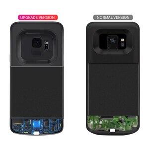 Image 3 - סוללה מקרה עבור סמסונג גלקסי S9 S8 בתוספת סוללה כוח אלחוטי טעינת Powerbank מקרה כוח בנק עבור סמסונג הערה 8 הערה 9