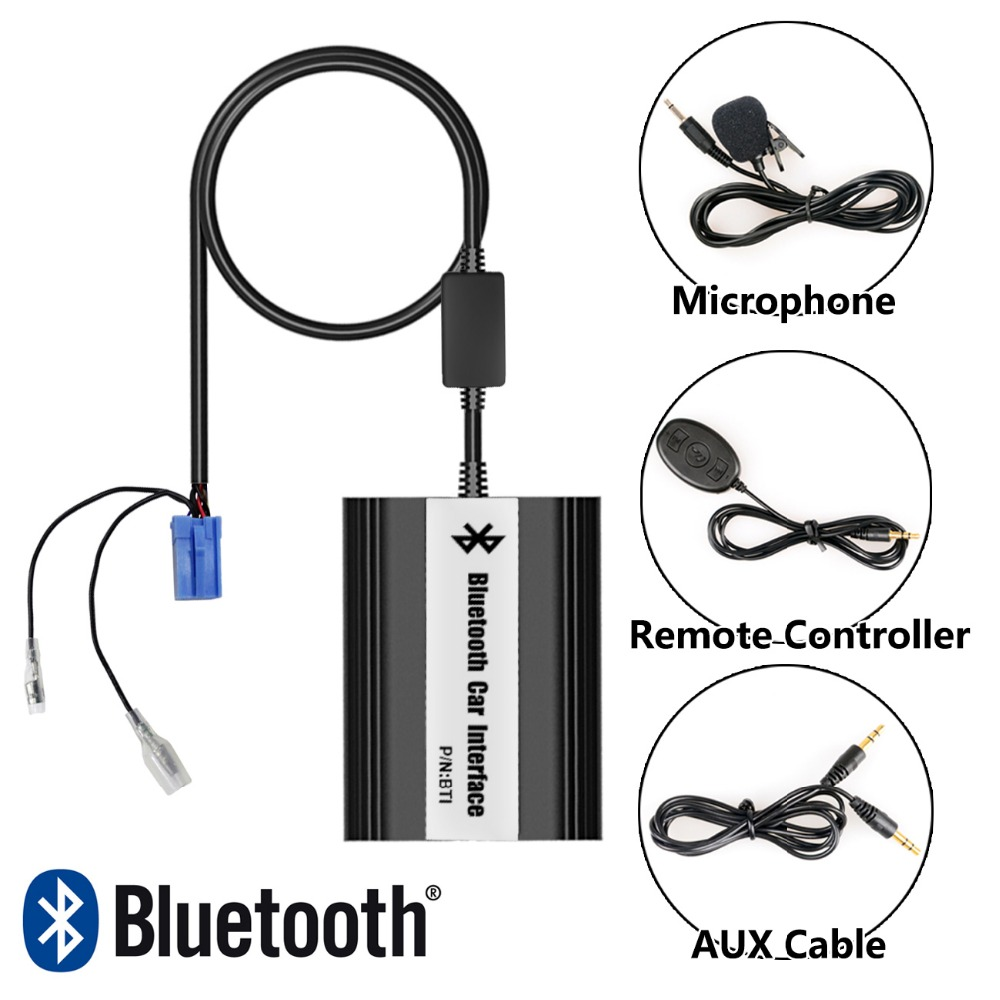 Car Stereo Bluetooth Interface Wireless Music Receiver USB AUX Jack Music Interface for Renault Velsatis (2001-2009) car usb sd aux adapter digital music changer mp3 converter for skoda octavia 2007 2011 fits select oem radios