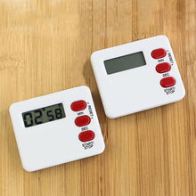 Square Mini Portable LCD Digital Table Countdown Magnet Alarm Clock DIY Kitchen Oven Cooking Timer Digital Table Clock Hot Sale