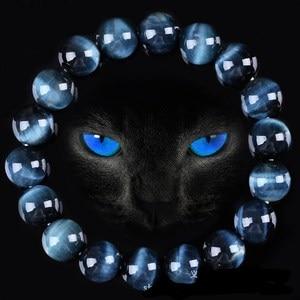 High Quality Blue Tiger Eye Buddha Brace