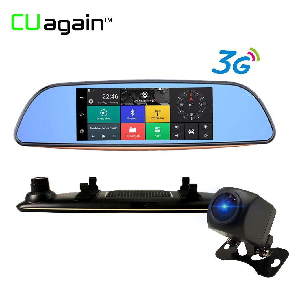 CUagain CUH2 Night Vision DVR 3G Wifi Car Camera 7 GPS Bluetooth Rearview Registrar Android For Dash Cam Video Recorder Mirror