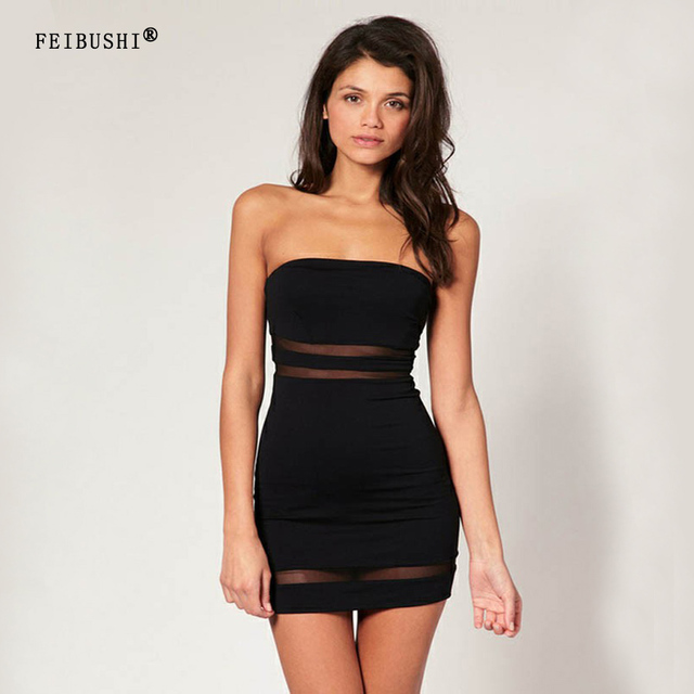 FEIBUSHI Summer Lace Sexy Strapless Dress
