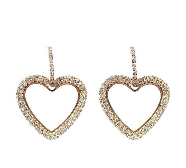 2019 NEW 925 silver needle rhinestone circle crystal from Swarovski long Love temperament personality wild earrings