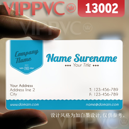 13002 Plastic Gift Card  - Matte Faces Transparent Card Thin 0.36mm