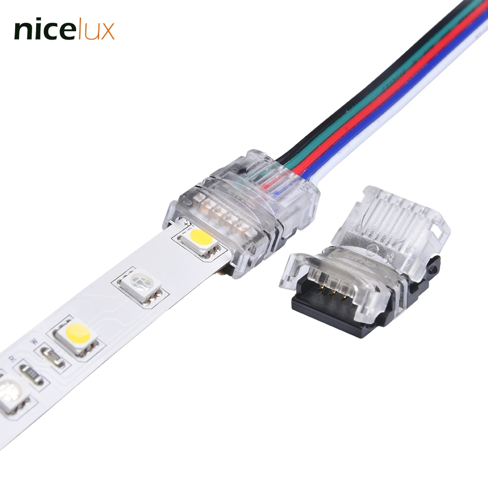 10pcs 5 Pin LED Strip Wire Connector For 12mm 5050 RGBW RGBY IP20 Non-waterproof LED Strip To Wire Connection Terminals