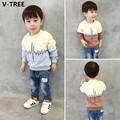 V-TREE Boys Cotton Hoddies Spring Baby Boys Long Sleeve T Shirts Children Casual Toddler T-Shirt Sweatshirt Toddler Clothes