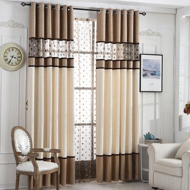US $9.6 40% di SCONTO|alta qualità blackout tende casa soggiorno camera da  letto sipario finito tessuto salotto cucitura cortina in alta qualità ...