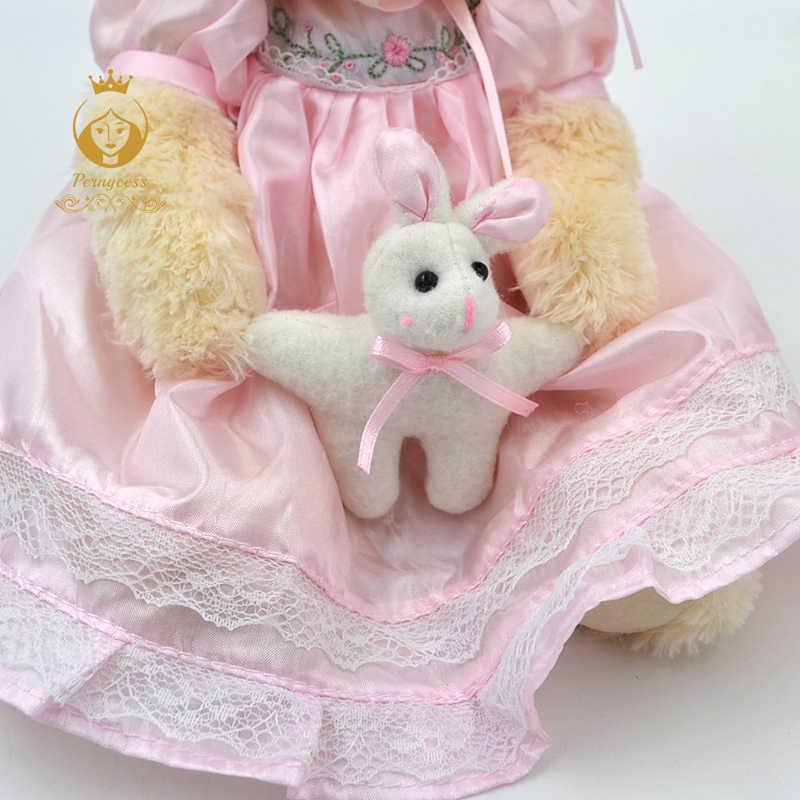 1 PCS 25 CM bonito urso de pelúcia vestindo uma saia de pelúcia brinquedos de pelúcia, bonecos de pelúcia crianças role-playing, para enviar sua namorada um presente