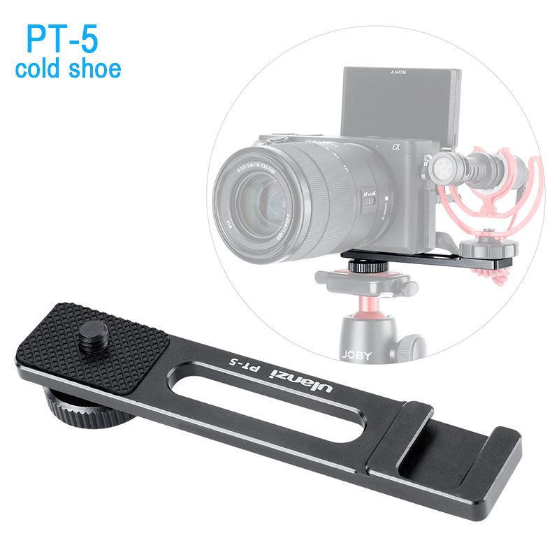 Ulanzi Vlogging Video Microphone Cold Shoe Extension Bar Bracket Vlog Accessory for Sony A6400 A6300 DSLR VideoMaker Interviewer old school motorcycle gauges