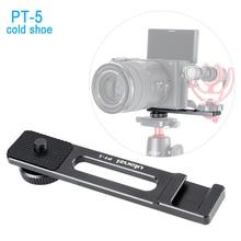 Ulanzi Vlogging Video Micro Giày Lạnh Thanh Nối Dài Chân Đế Vlog Phụ Kiện Cho Sony A6400 A6300 DSLR VideoMaker Người Phỏng Vấn