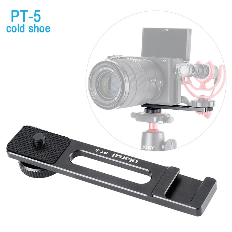 Ulanzi vlogging vídeo microfone sapato frio barra de extensão suporte vlog acessório para sony a6400 a6300 dslr videomaker entrevistador