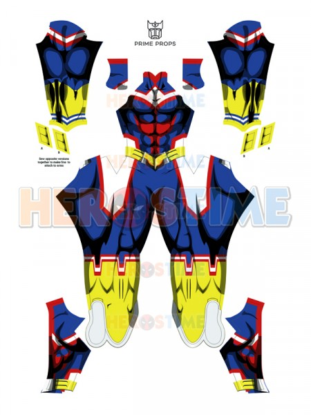 3D Print All Might Uniform My Hero Academia Toshinori Yagi Cosplay Costume Boku no Hero Academia All Might Male Cell Bodysuit