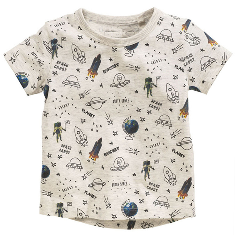 Kids T-shirts For Girls O-neck Cartoon Pattern Children T Shirts For Boys Short Sleeve Tops Spring Cotton Tshirt Summer 2018