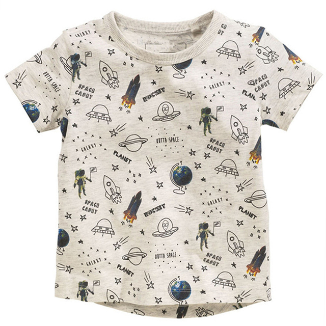 Kids T-shirts For Girls O-neck Cartoon Pattern Children T Shirts For Boys Short Sleeve Tops Spring Cotton Tshirt Summer 2018