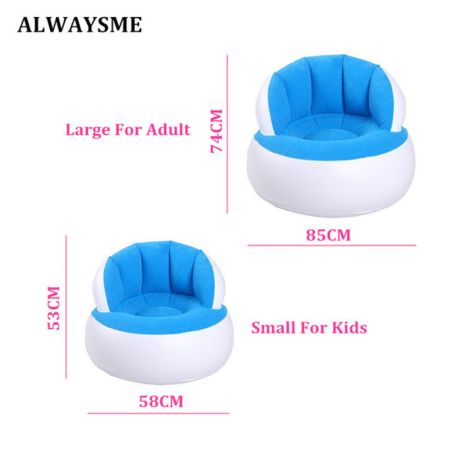 ALWAYSME Inflatable Baby Chair Portable Baby Seats Dining Lunch Chair Seat Feeding Chair Stretch Wrap Baby Sofa No Inflator Pump 1
