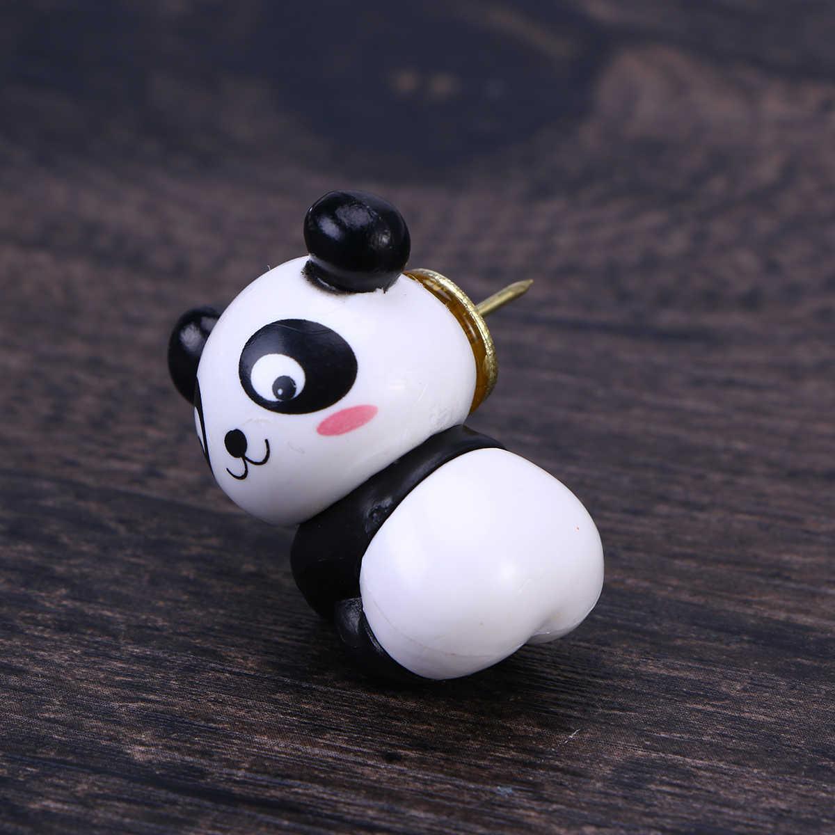 8 Pcs Pin Gambar Indah Panda Menggemaskan Plastik Menggambar Pin Push Pin Paku Payung untuk Tampilan Papan Jalan Kalender