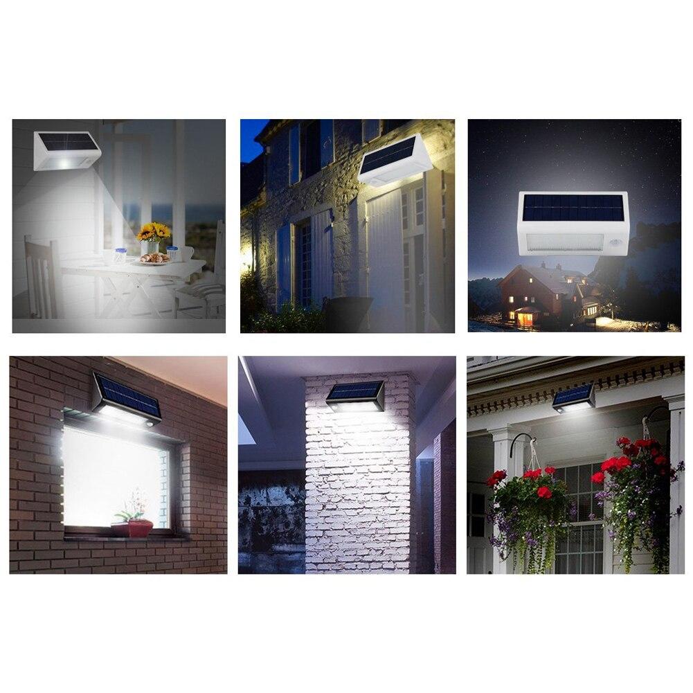 Outdoor 20 LED Solar Power PIR Motion Sensor Garden Yard Wall Lamp <font><b>Light</b></font> Super Bright Garage Security Door Lamp Garden Decor