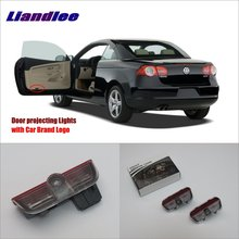 Liandlee For VolksWagen VW Eos 2011~2014 Door Ghost Shadow Lights Car Brand Logo LED Projector Welcome Light Courtesy Doors Lamp 2x canbus led car door logo welcome light ghost shadow projection emblem lights for seat alhambra n7 2011 2012 2013 2014