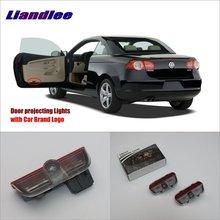 цена на Liandlee For VolksWagen VW Eos 2011~2014 Door Ghost Shadow Lights Car Brand Logo LED Projector Welcome Light Courtesy Doors Lamp