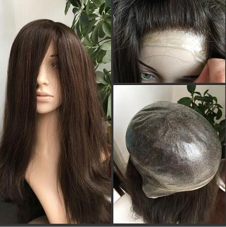 Customized Made Women Wigs Toupee All Poly Skin