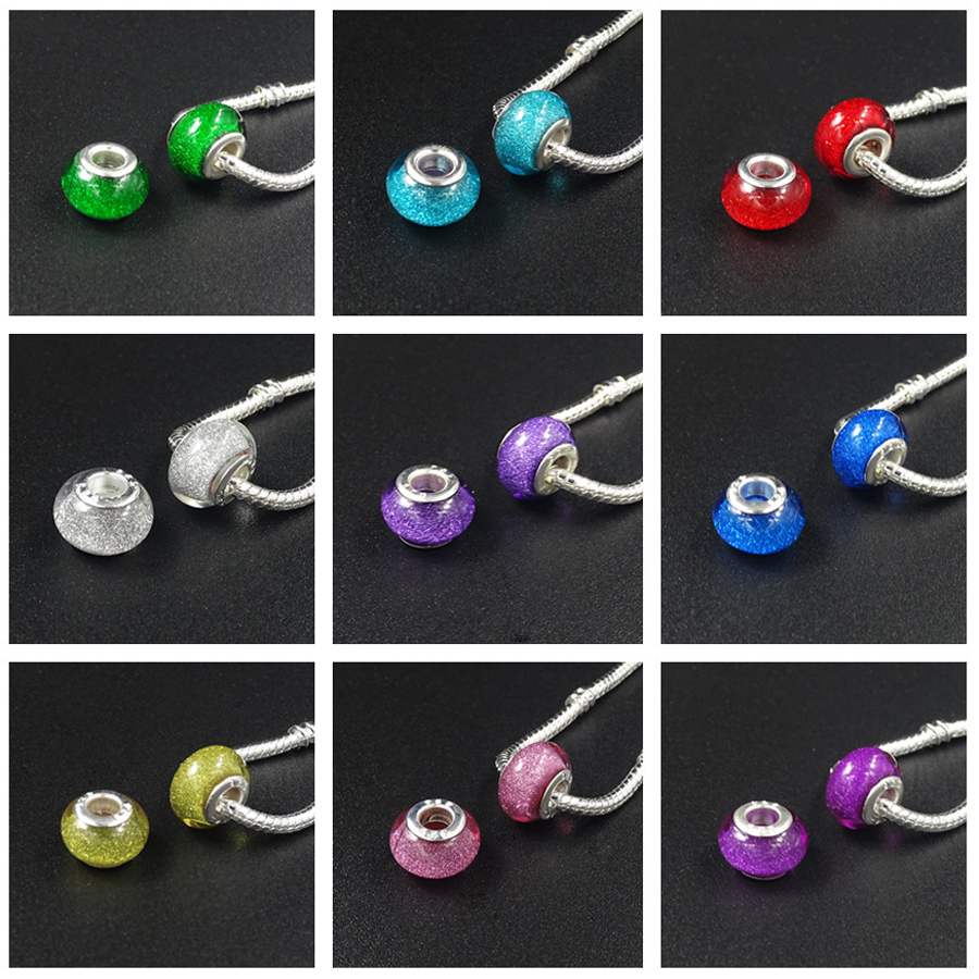 10pcs red crystal glass charm beads fit european snake chain