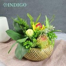 INDIGO Exclusive Sales Janpanese Style Table Flower Arrangement Gift Bouquet Artificial Bonsai Event Centerpiece Free Shipping