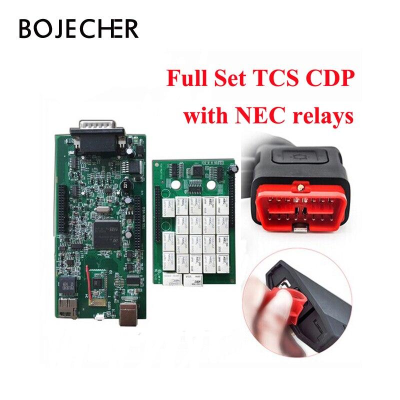 3 pcs/lot 2016. r0/2015. r3 Nouveau VCI CDP Avec Bluetooth SDC SCANNER TCS CDP Pro Plus Pour Les Voitures/Camions + Boîte en Carton par DHL Gratuit