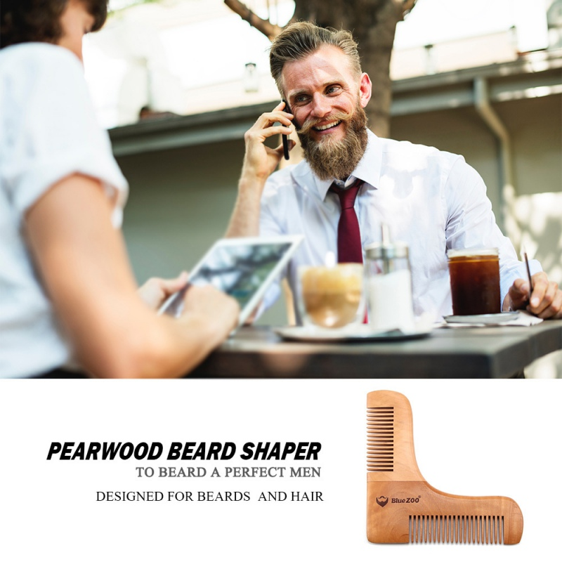 Beard Shaping Styling Double Gentlemen Beard Comb ABS Shaping Template Beard Shaping Comb for Men