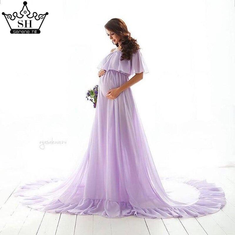 Purple Sleeveless Sexy Chiffon Wedding Dresses Pregnant