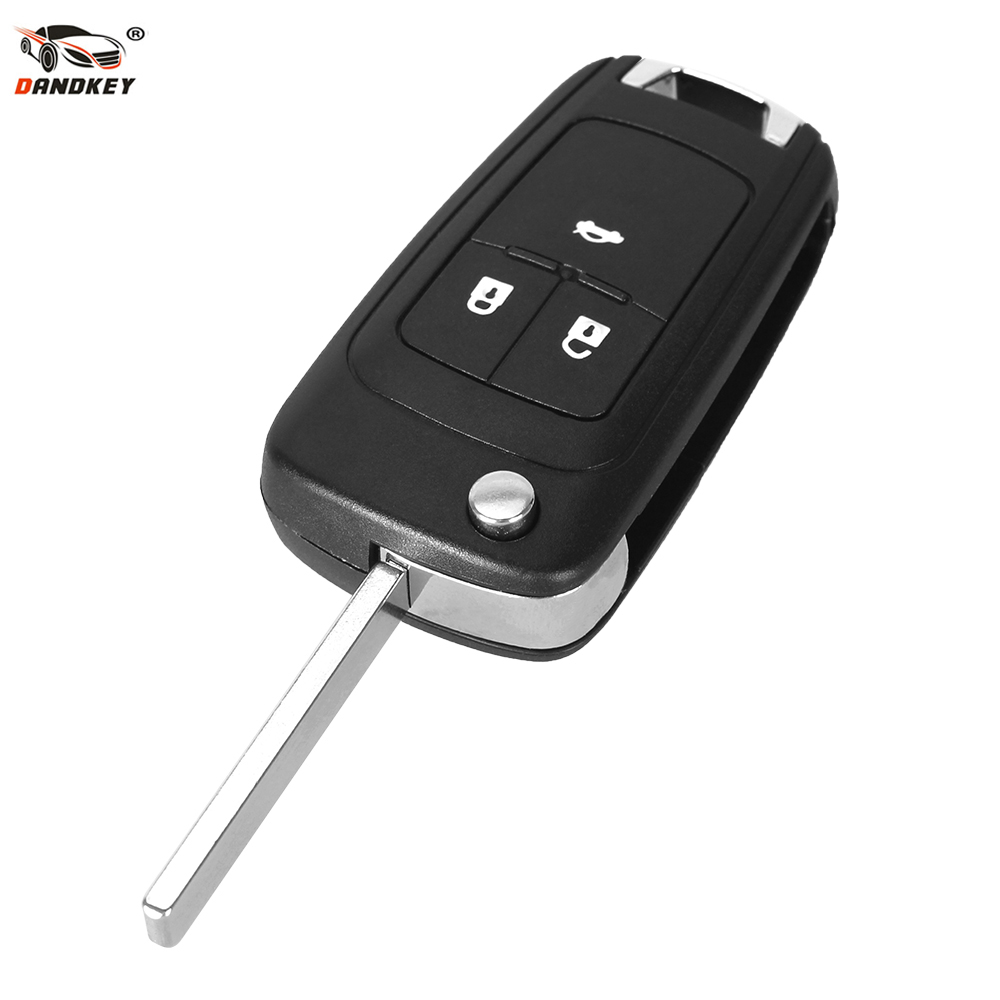 DANDKEY 10x New Arrival 3 Buttons Uncut Folding Flip Remote Key Case Shell Fob For Vauxhall Opel Astra H Corsa D Vectra C Zafira(China)