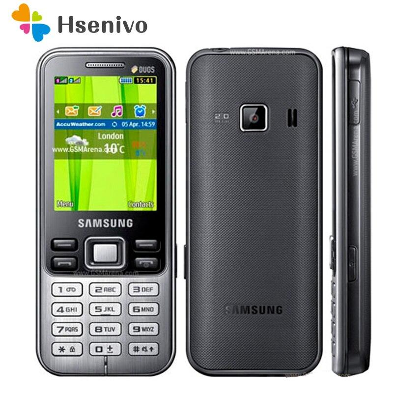 C3322 100% original desbloqueado samsung c3322 gsm duplo sim cartão fm bluetooth rádio do telefone móvel frete grátis