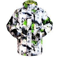 2016 브랜드 남성 스키 자켓 방수 따뜻한 겨울 눈 의류 야외 스포츠 스키 스노우 보드 재킷 방풍 코트