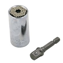 7-19MM Universal Socket Ratchet Wrench Bushing Set Magic Spanner Gator Grip Tool 52*26mm