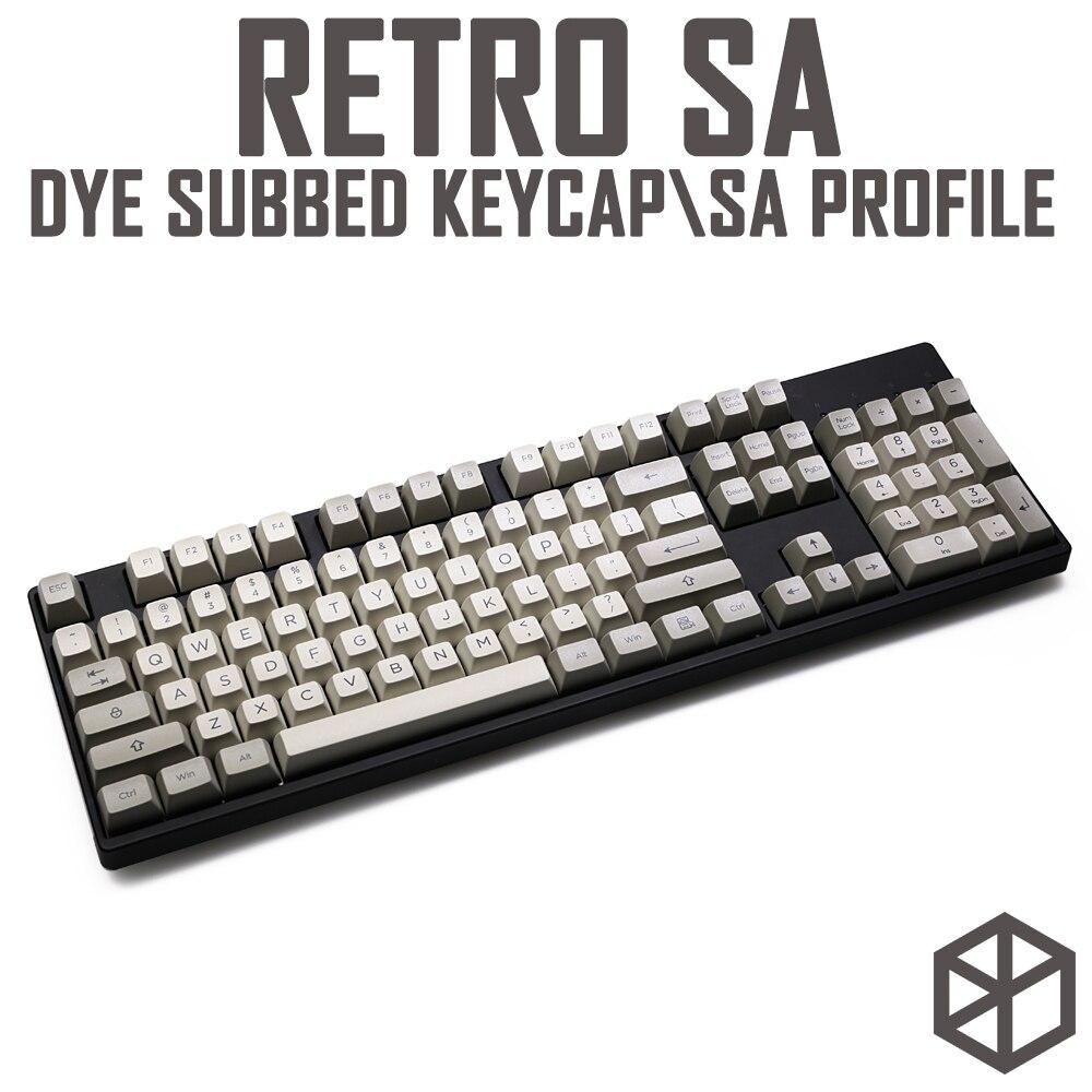 Retro Ibm Sa Profile Dye Sub Keycap Set Thick PBT Plastic Keyboard Gh60 Xd60 Xd84 Cospad Tada68 Rs96 Zz96 87 104 660