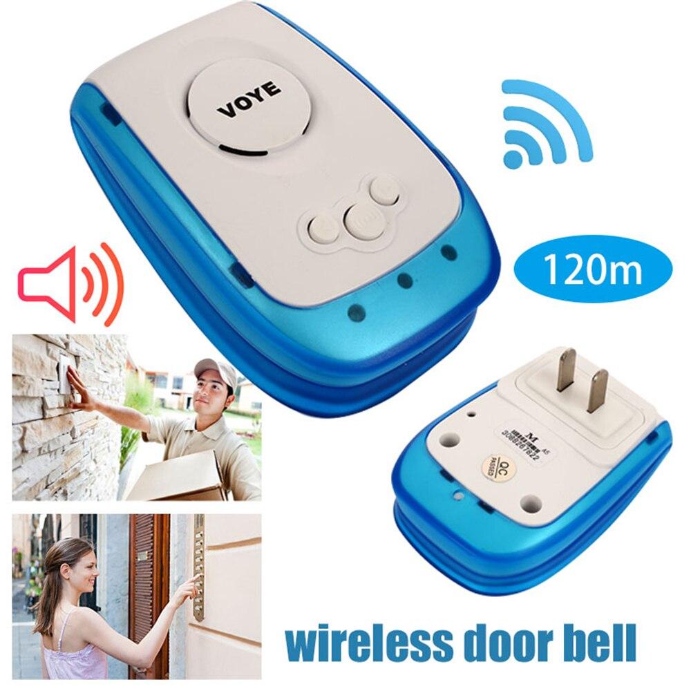 Giantree 120m Range 220V Wireless Doorbell Voice Intercom 38 Songs Patient Care Home Door Bell US plug