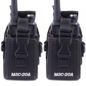 Image 1 - 2 قطعة Abbree MSC 20A النايلون اسلكية تخاطب حمل حامل ل Baofeng اتجاهين راديو UV 5R/82 BF 888S سلسلة راديو الحافظة