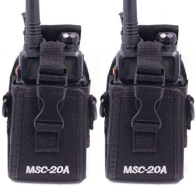 2 قطعة Abbree MSC 20A النايلون اسلكية تخاطب حمل حامل ل Baofeng اتجاهين راديو UV 5R/82 BF 888S سلسلة راديو الحافظة