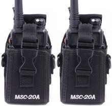 2 pçs abbree MSC 20A náilon walkie talkie carry caso titular para baofeng rádio em dois sentidos UV 5R/82 BF 888S série caso de rádio coldre