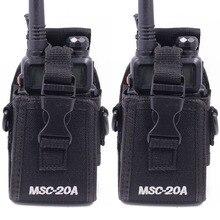 2 sztuk Abbree MSC 20A Nylon Walkie Talkie tuba podręczna dla Baofeng dwukierunkowe Radio UV 5R/82 BF 888S serii Radio Case kabura