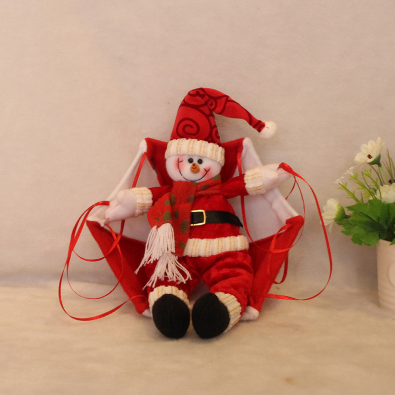 Christmas Home Ceiling Decorations Parachute Santa Claus Smowman Doll Hanging Pendant Decoration Supplies In Drop Ornaments