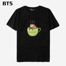 BTS Sloffee T-shirt Men Cool Hipster Brand Anime T Shirt High Quality Male Homme Comfortable Tee Shirt Homme Humoristique