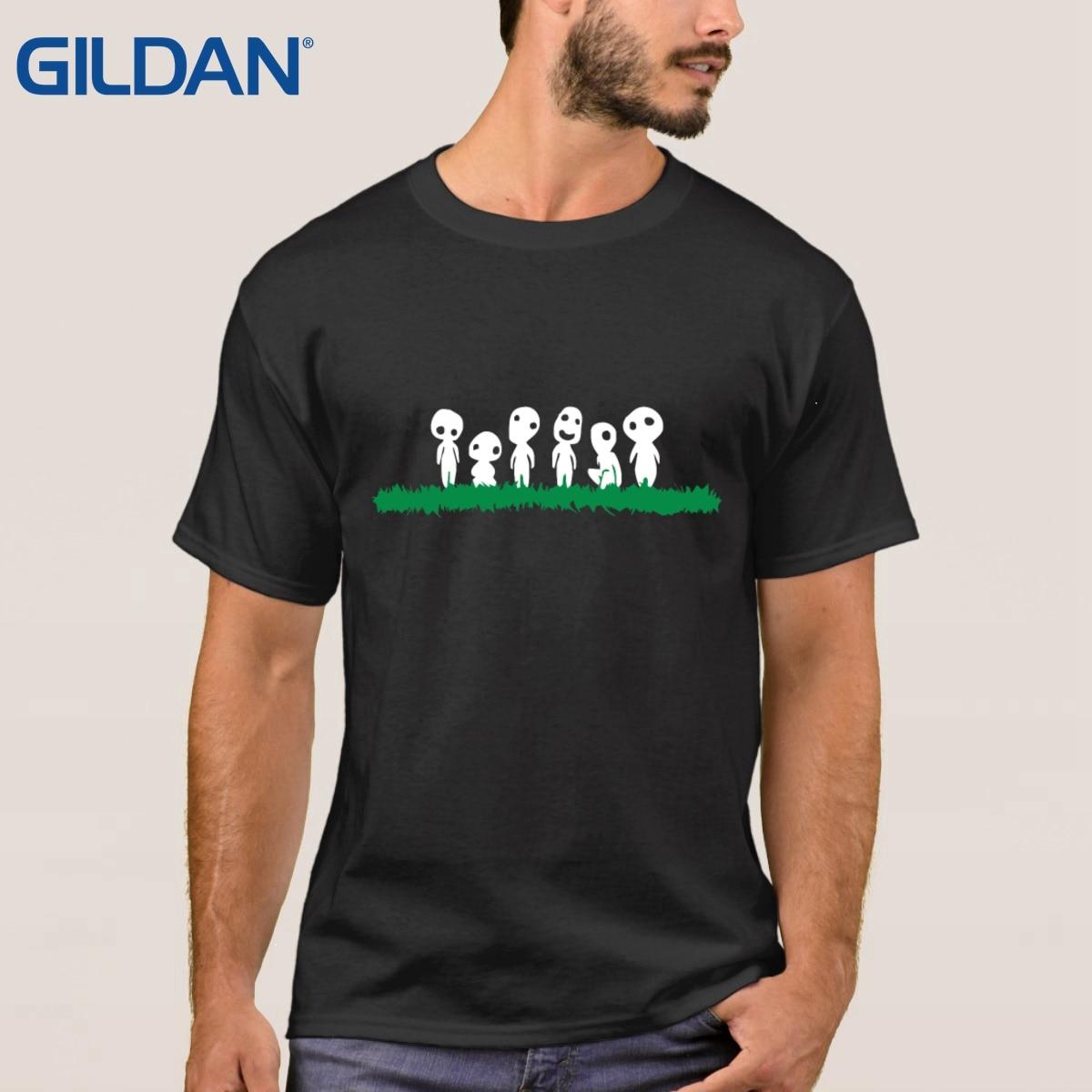 Design t shirts and sell online - Color Enhanced Kodama Spirit Movie Color Enhanced T Shirt Black Men Splicing Cloth Design T Shirt Online Tops Sale Oversized