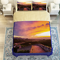 China Landscape Scenery Great Wall 3D Bedding Set Quilt Cover Bed Sheets Twin Queen King Size Soft Polyester Fabric Home Textile