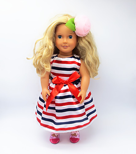 Free shipping hot 2016 new style Popular 18 American girl doll clothes dress 2012