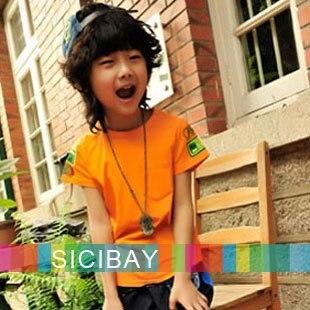 new summer Solid O-Neck design fashion boys t shirts children clothes kids Short Sleeve T-shirt C0200