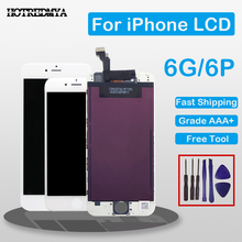 100% Tested LCD For iPhone 6 Plus LCD Touch Screen Glass Digitizer Display Full Assembly Black/White No Dead Pixel with Gifts 100% tested new lcd screen with touch screen digitizer assembly full sets for huawei ascend g6 black or white